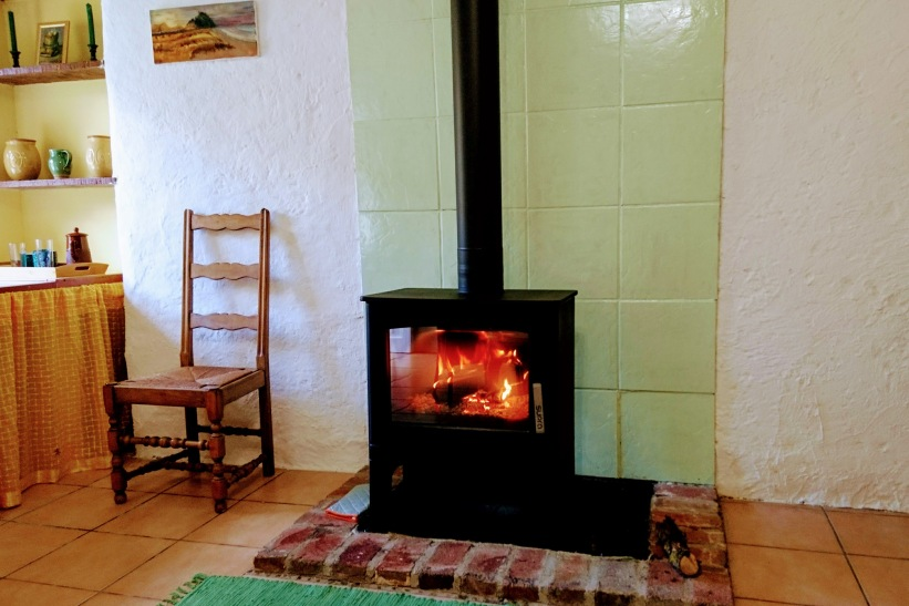 A new stove gives a cosy atmosphere